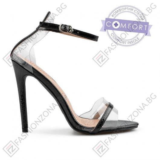 Черни дамски елегантни сандали Romayne