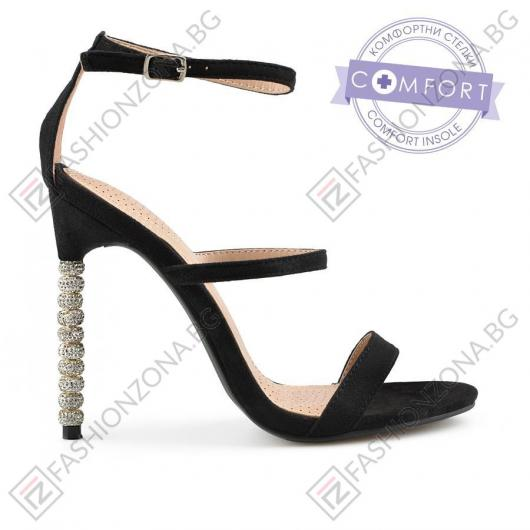 Черни дамски елегантни сандали Palita