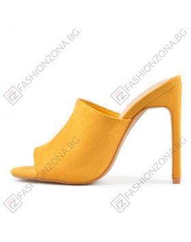 Жълти дамски елегантни чехли Alisanne в online магазин Fashionzona