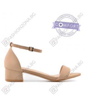 Бежови дамски елегантни сандали Erzilia в online магазин Fashionzona