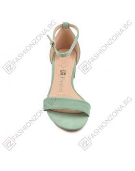 Зелени дамски елегантни сандали Royalina в online магазин Fashionzona