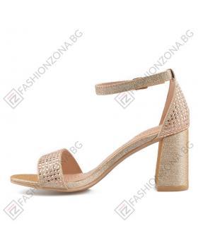 Златисти дамски елегантни сандали Yacinta в online магазин Fashionzona