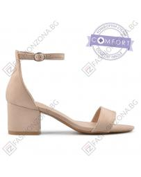 Бежови дамски елегантни сандали Amoda в online магазин Fashionzona