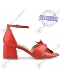 Дамски червени елегантни сандали Olympe