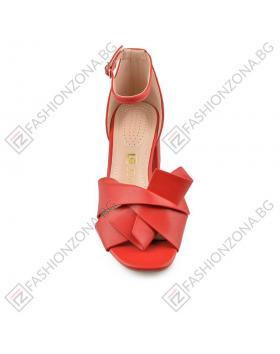 Дамски червени елегантни сандали Olympe в online магазин Fashionzona