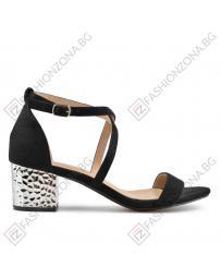 Черни дамски елегантни сандали 0137500 Merlyn