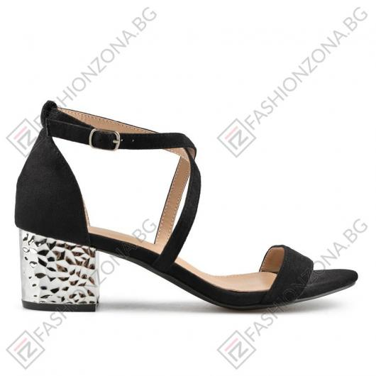 Черни дамски елегантни сандали Merlyn