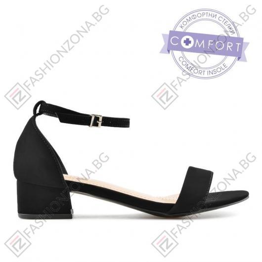 Дамски черни ежедневни сандали Edmee
