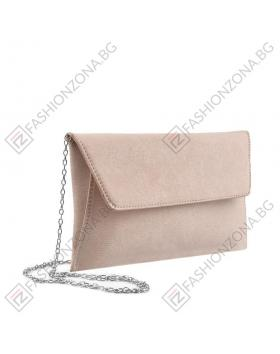 Дамска бежова елегантна чанта Hermosa в online магазин Fashionzona