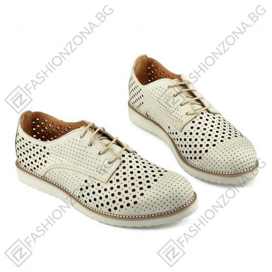 Бежови дамски ежедневни обувки Cheerish