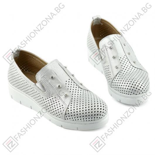 Сребристи дамски ежедневни обувки Asuncion