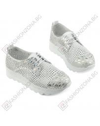 Бели дамски ежедневни обувки Dion