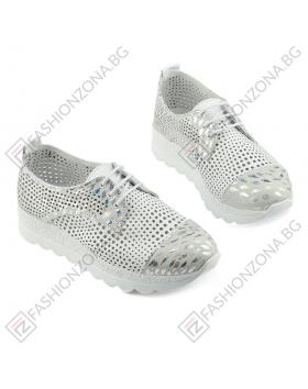 Бели дамски ежедневни обувки Dion в online магазин Fashionzona