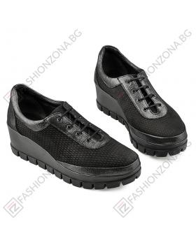 Черни дамски ежедневни обувки Angelus в online магазин Fashionzona