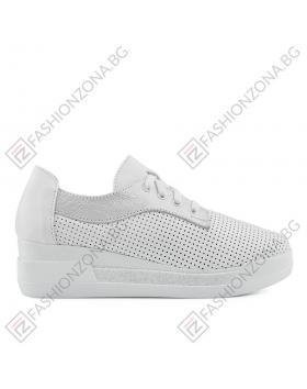 Бели дамски ежедневни обувки Genivee в online магазин Fashionzona