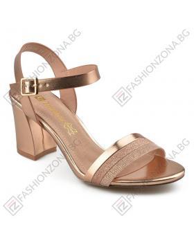 Златисти дамски елегантни сандали Alfonso в online магазин Fashionzona