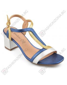 Сини дамски елегантни сандали Vida в online магазин Fashionzona