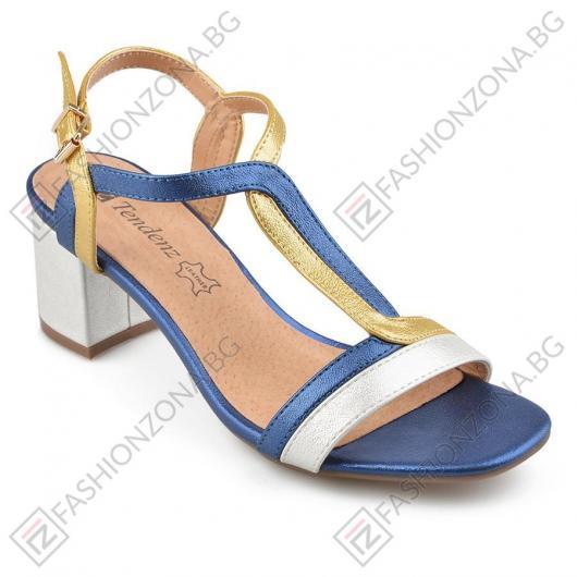 Сини дамски елегантни сандали Vida