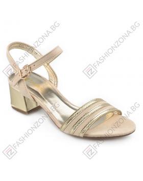 Златисти дамски елегантни сандали Cendrillon в online магазин Fashionzona