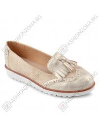 Златисти дамски ежедневни обувки 0137924