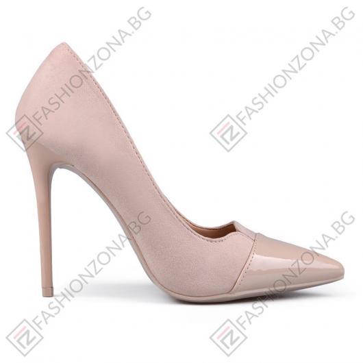 Бежови дамски елегантни обувки Arline