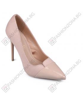 Бежови дамски елегантни обувки Arline в online магазин Fashionzona