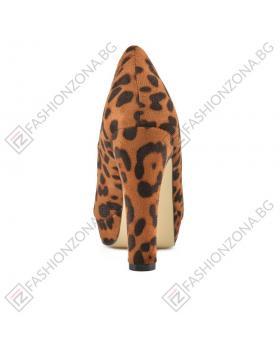 Кафяви дамски елегантни обувки Brielle в online магазин Fashionzona