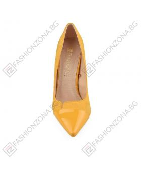 Жълти дамски елегантни обувки Logan в online магазин Fashionzona