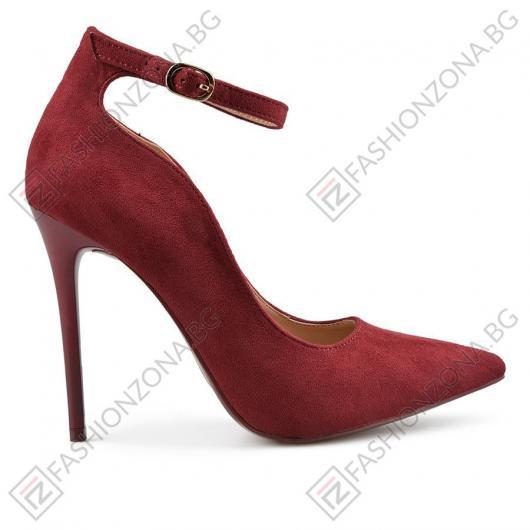 Червени дамски елегантни обувки Jami