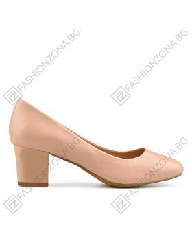 Бежови дамски елегантни обувки Carrie в online магазин Fashionzona