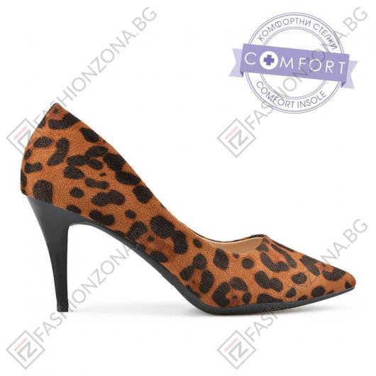 Кафяви дамски елегантни обувки Janiyah
