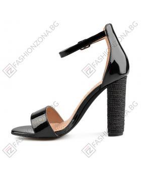 Черни дамски елегантни сандали Glenna в online магазин Fashionzona