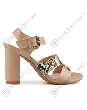 Бежови дамски елегантни сандали Heavenly в online магазин Fashionzona