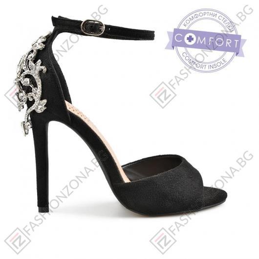 Черни дамски елегантни сандали Gabriela