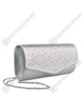 Сребриста дамска елегантна чанта Diva в online магазин Fashionzona