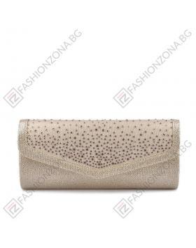 Златиста дамска елегантна чанта Dale в online магазин Fashionzona