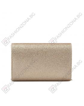Златиста дамска елегантна чанта Doroteya в online магазин Fashionzona