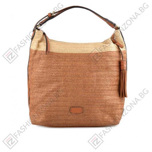 Кафява дамска ежедневна чанта Micah