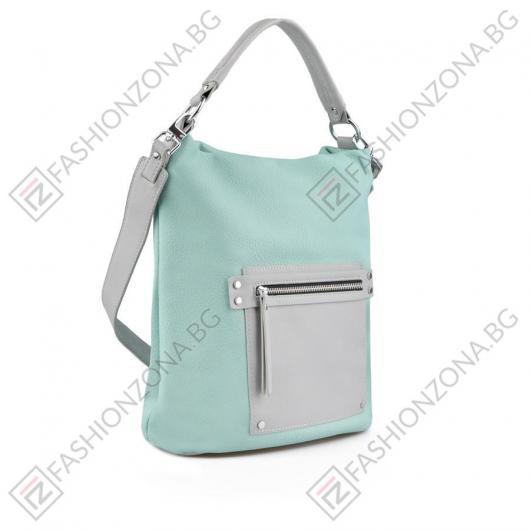 Зелена дамска ежедневна чанта Patrica