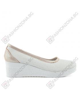 Бели дамски ежедневни обувки Staci в online магазин Fashionzona