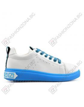 Бели дамски ежедневни обувки Carlee в online магазин Fashionzona