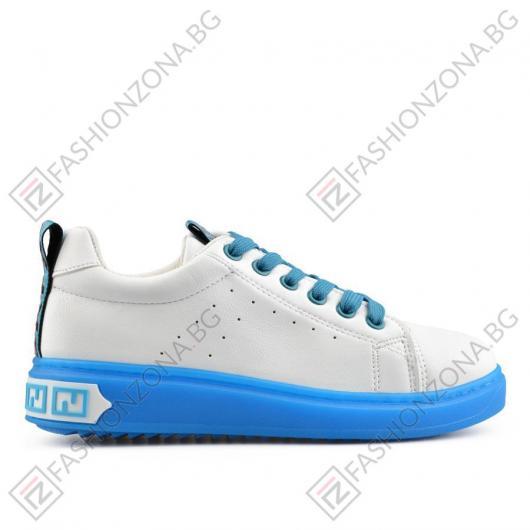 Бели дамски ежедневни обувки Carlee