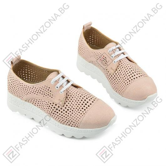 Розови дамски ежедневни обувки Jeannette
