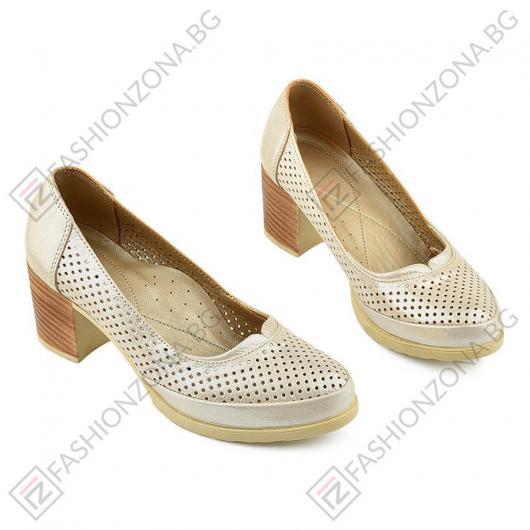 Бежови дамски ежедневни обувки Selma