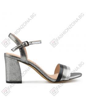 Сребристи дамски елегантни сандали Beryl в online магазин Fashionzona