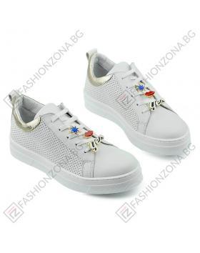 Бели дамски ежедневни обувки Freda в online магазин Fashionzona