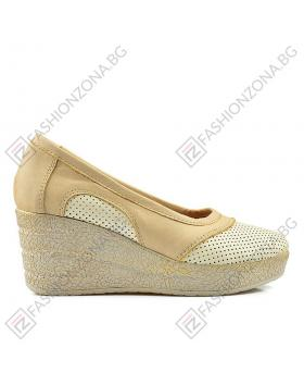 Бежови дамски ежедневни обувки Aleena в online магазин Fashionzona