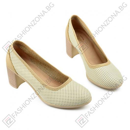 Бежови дамски ежедневни обувки Rory