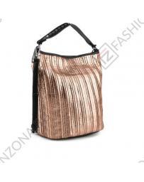 Златиста дамска ежедневна чанта