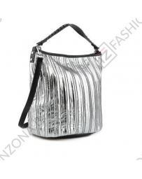 Сребриста дамска ежедневна чанта Anaya
